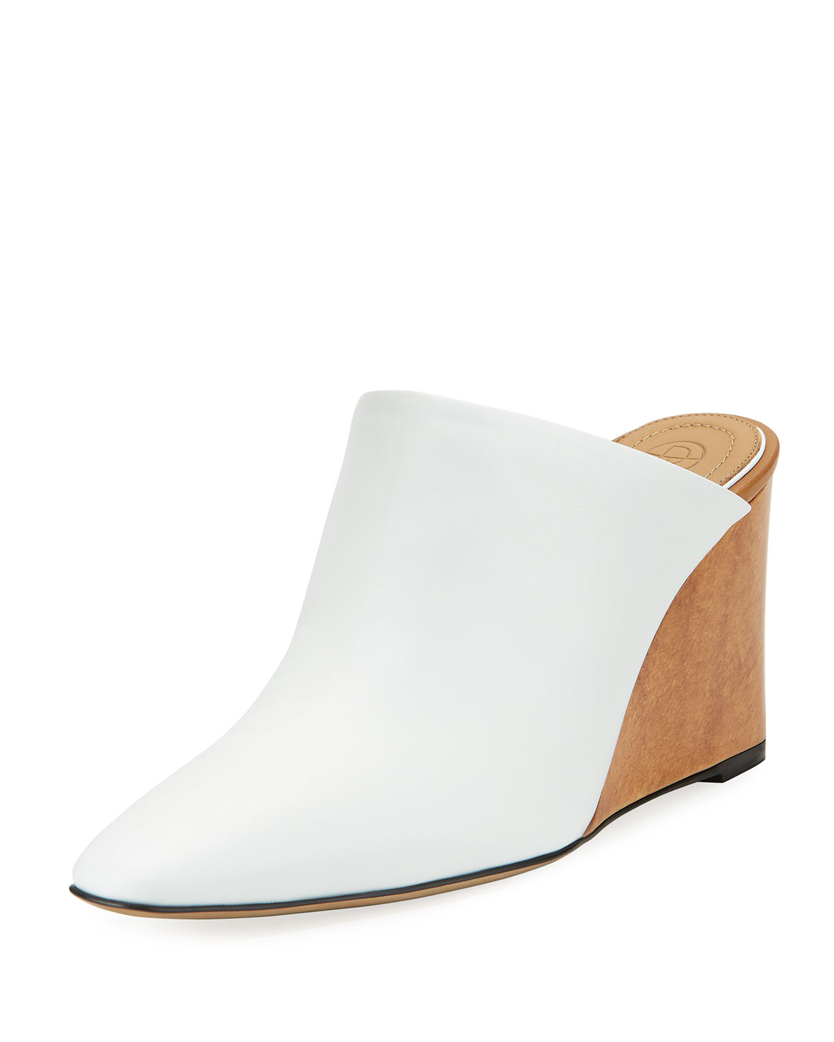 156092ed49b THE ROW Flora Leather Wedge Mule