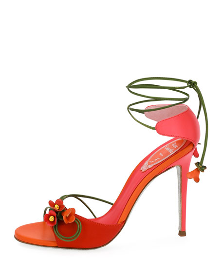 Flower Self-Tie 105mm Sandal