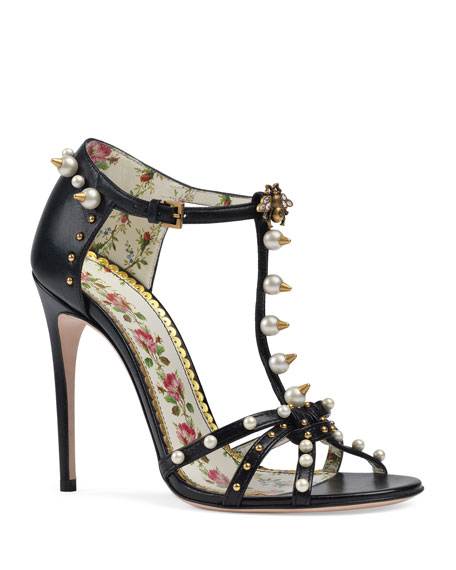 110mm Regina Studded Leather Sandals