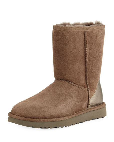 UGG Classic Short II Metallic Suede Boot