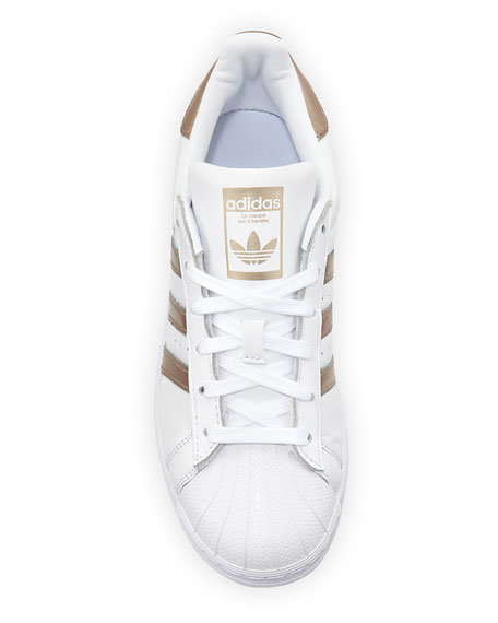 Superstar Lace-Up 3-Stripes&#174 Sneakers
