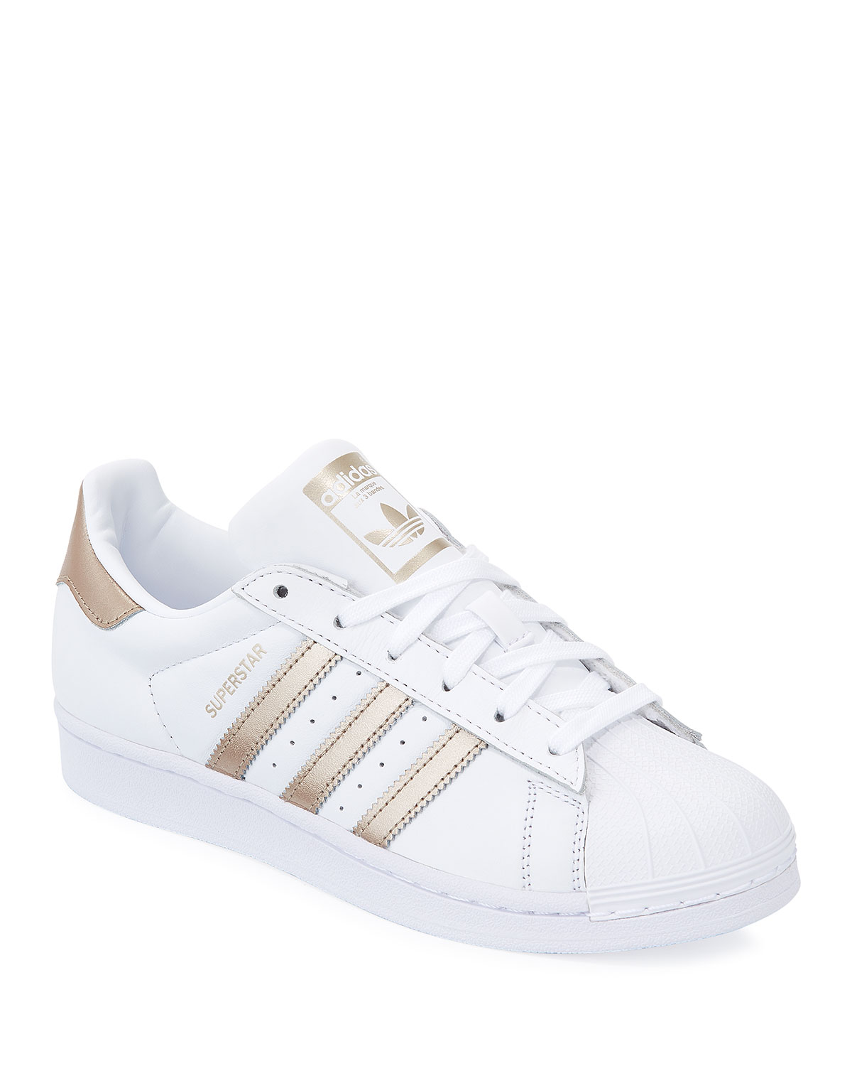 abb7b1e256b Adidas Superstar Lace-Up 3-Stripes® Sneakers
