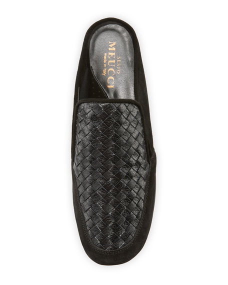 Giana Woven Comfort Mule, Black