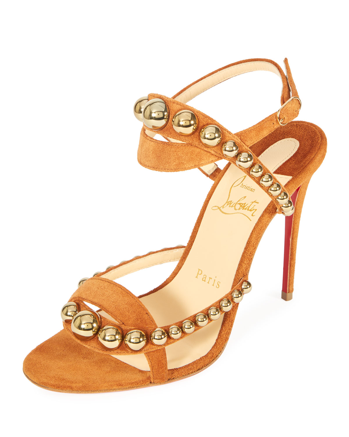 09edfad4e957 Christian Louboutin Galleria 100mm Suede Red Sole Sandal