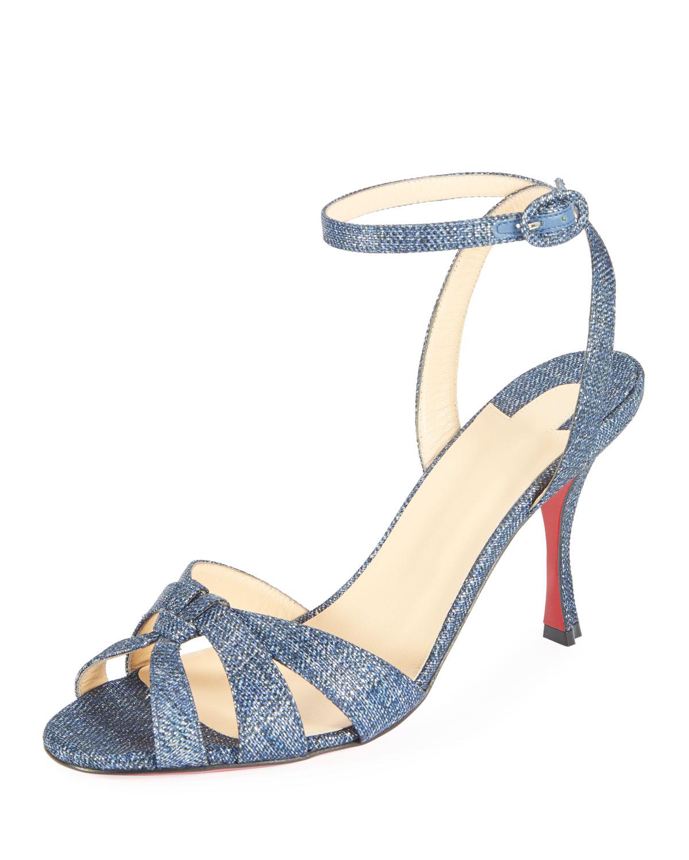 separation shoes 39e96 e47c6 Trezuma 85mm Denim Red Sole Sandal
