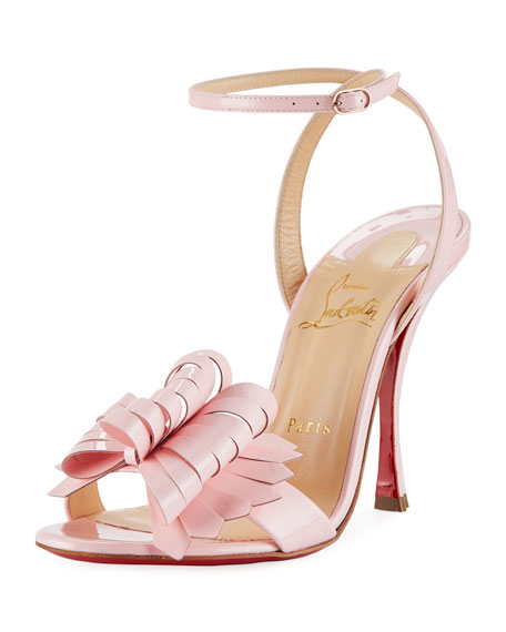 Miss Valois Patent Red Sole Sandal