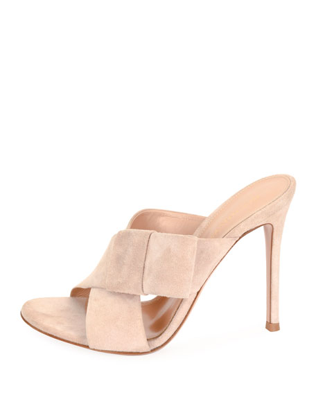 Crisscross Suede 105mm Mule
