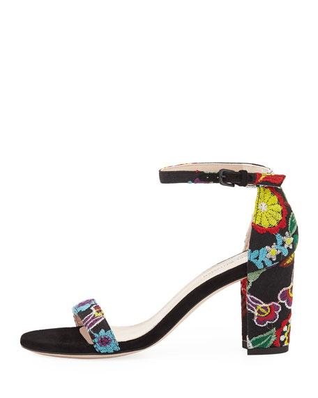 Nearlynude Botanic Embroidered City Sandal