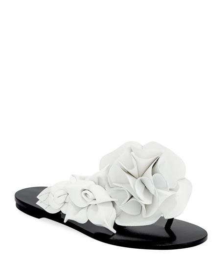 Sophia Webster Jumbo Lilico Flower Flat Slide Sandal