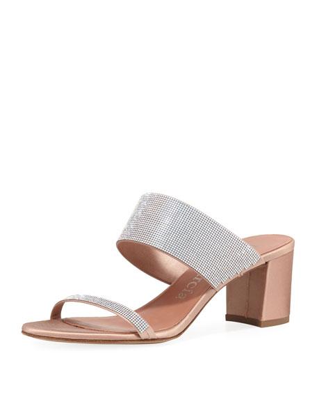 Pedro Garcia Xina Crystal-Embellished Mule Sandal