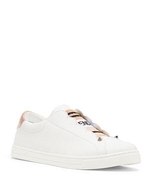 a280b05b2a85 Fendi Rockoko Leather Slip-On Sneakers