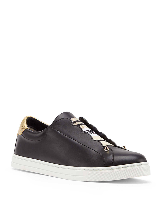 b16fb07408 Rockoko Leather Slip-On Skate Sneakers