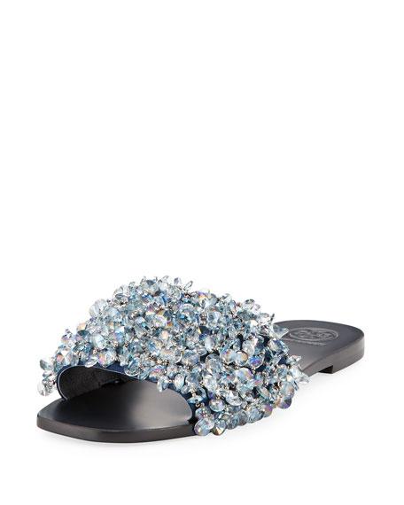 Tory Burch Women's Logan Embellished Slide Sandals RuSDKtcu