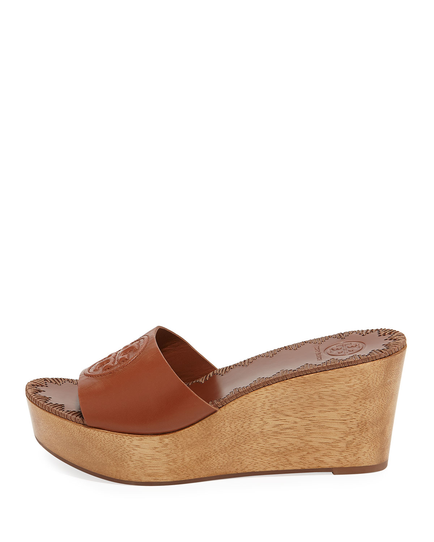 d053c0fec492e Tory Burch Patty Platform Wedge Slide Sandal | Neiman Marcus