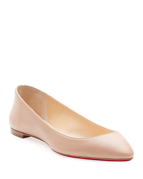 Christian Louboutin Eloise Napa Leather Red Sole Flat