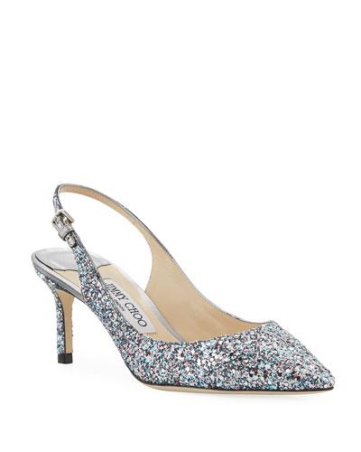 Erin Slingback Glitter Pumps