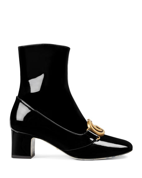 Gucci Victoire 55mm Patent Leather Bootie
