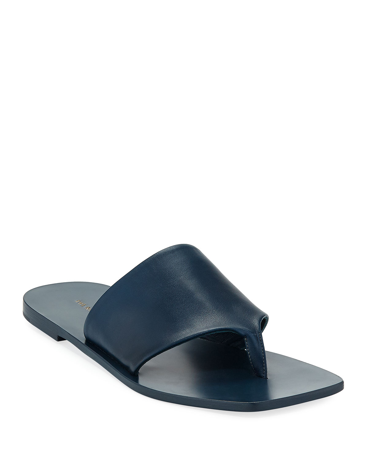 30dfad33f09 THE ROW Flat Napa Leather Thong Sandal