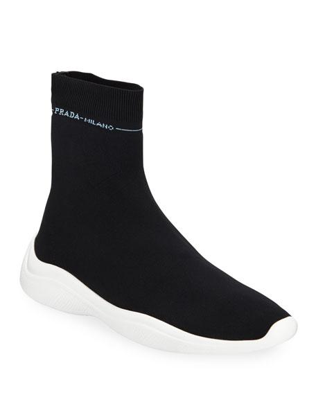 Prada Knit Sock Trainer Sneakers
