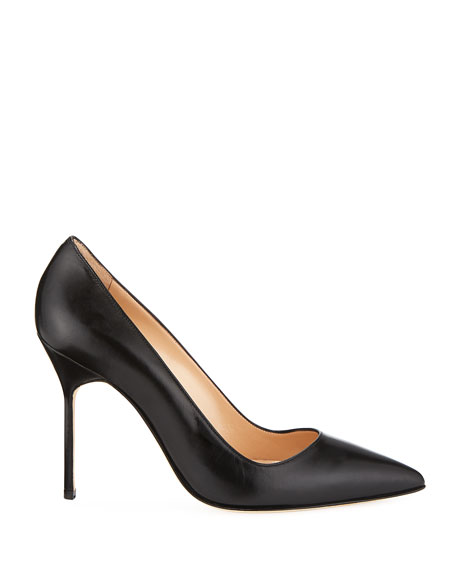 Image 2 of 3: Manolo Blahnik BB Leather 105mm Pumps