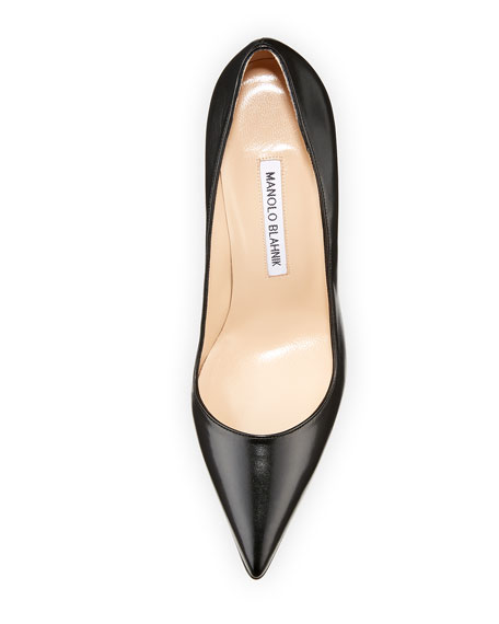 Image 3 of 3: Manolo Blahnik BB Leather 105mm Pumps