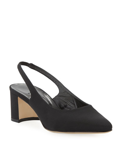 Allurasa Fabric Slingback Pumps  Black