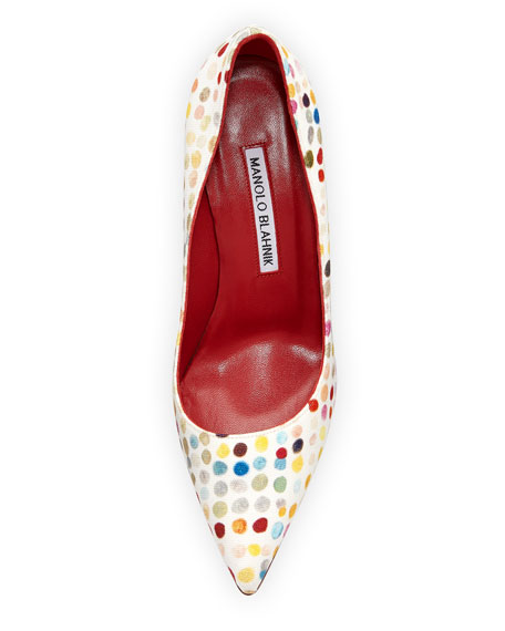 BB 90mm Dot Painted Canvas Pumps