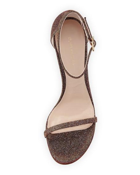 Stuart Weitzman 105NUDIST Nighttime Ankle-Wrap Sandals
