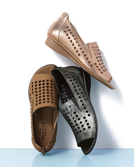 Image 2 of 4: Ellen Perforated Comfort Slip-On Flat