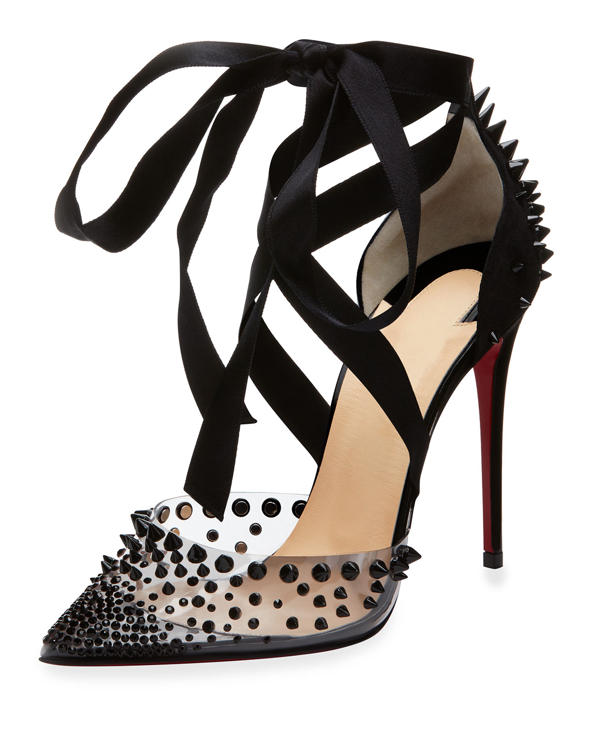 f8638f64971 Christian Louboutin Mechante Reine Spikes Red Sole Pumps