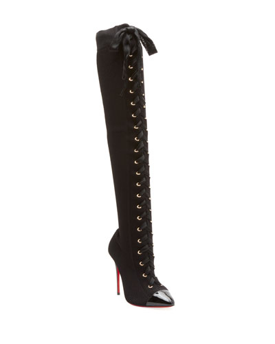 Frenchie Over-The-Knee Red Sole Boots