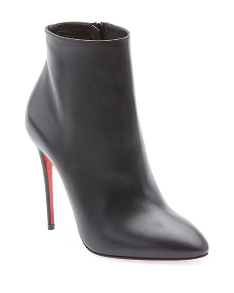 Christian Louboutin Eloise Leather Red Sole Booties