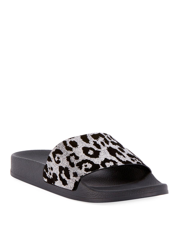 690e3fb0951 Balmain Calypso Leopard Pool Sandal