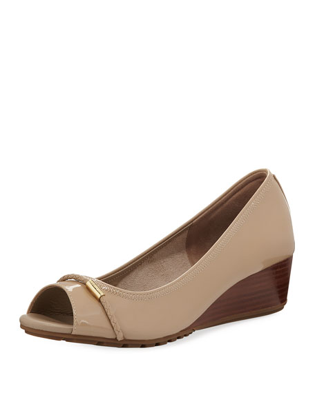 Cole Haan Emory Open-Toe Wedge Pump