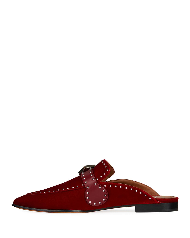 0ed996d5e92 Givenchy Elegant Studded Velvet Loafer Mule