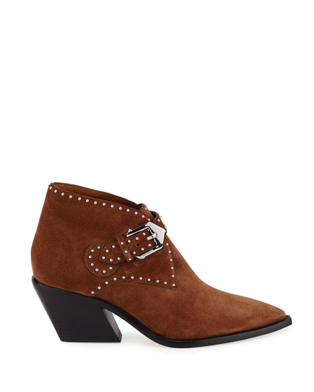 Image 2 of 3: Givenchy Elegant Studded Western Booties