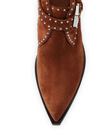 Image 3 of 3: Givenchy Elegant Studded Western Booties