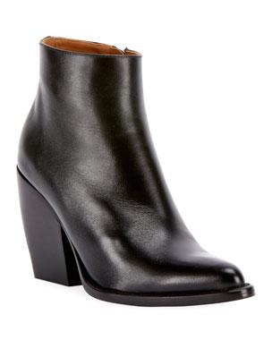 0a8a556cd78 Chloe Rylee 90MM Block Heel Western Booties