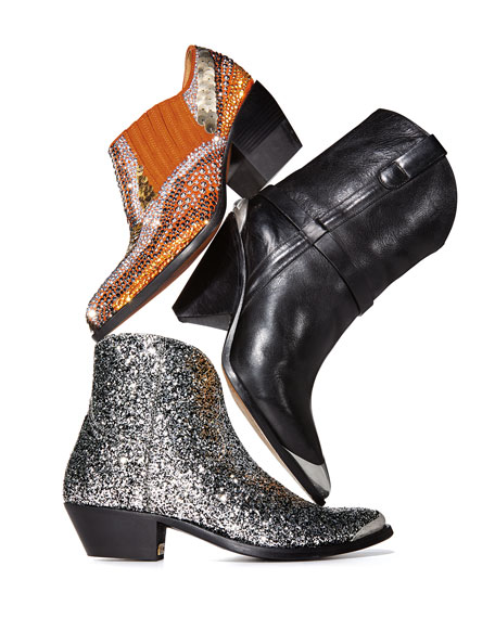 Rylee 90MM Booties with Strass Detail