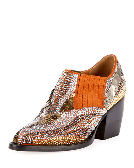 Chloe Rylee 90MM Booties with Strass Detail