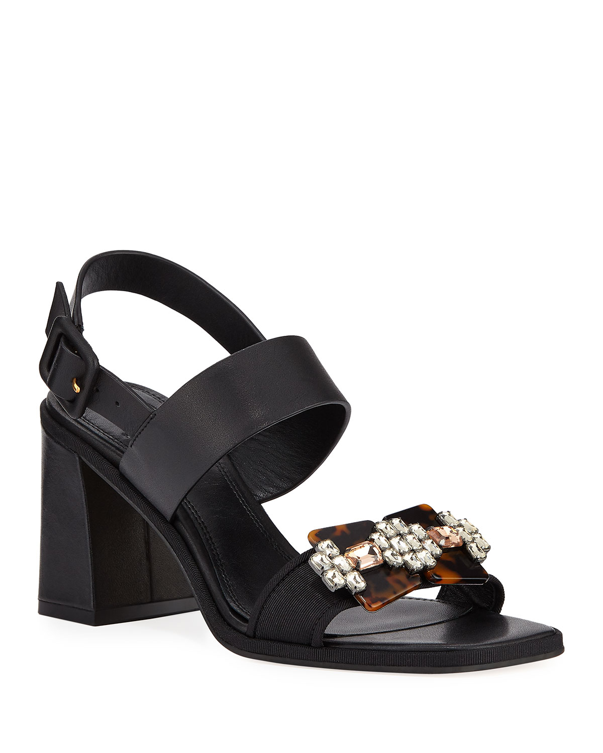 a04de67280a Tory Burch Delaney Embellished Leather Sandal   Neiman Marcus