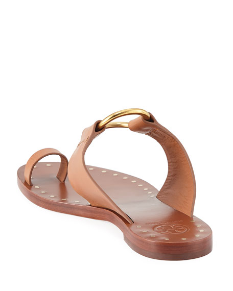 Brannan Flat Studded Leather Slide Sandal