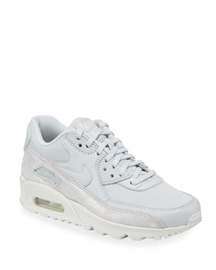 timeless design 6a4c4 d47e3 Nike Air Max 90 Premium Leather Sneakers