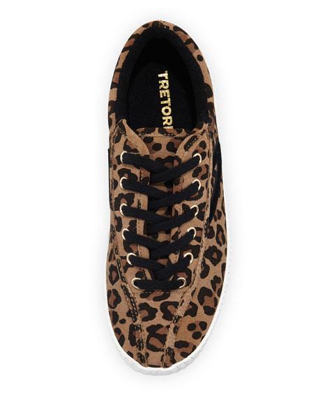 NY Lite 2 Plus Leopard-Print Suede Low-Top Sneaker