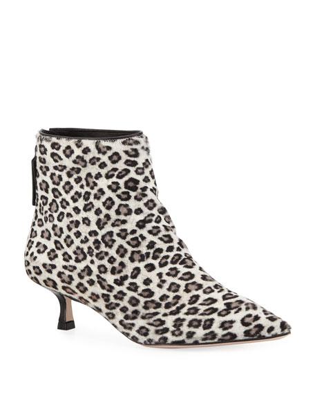 Stuart Weitzman Juniper Leopard Ankle Booties | Neiman Marcus