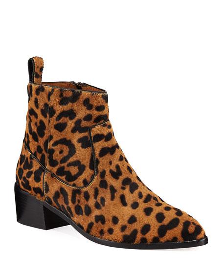 Veronica Beard Tanner Low-Heel Leopard