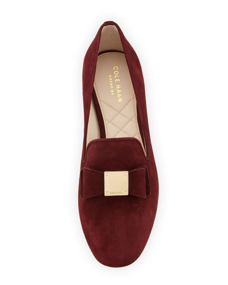 Cole Haan Tali Grand Suede Bow Loafers
