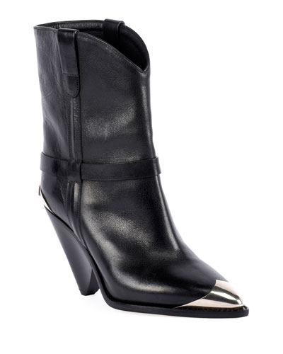 Lamsy Low Leather Western Boots