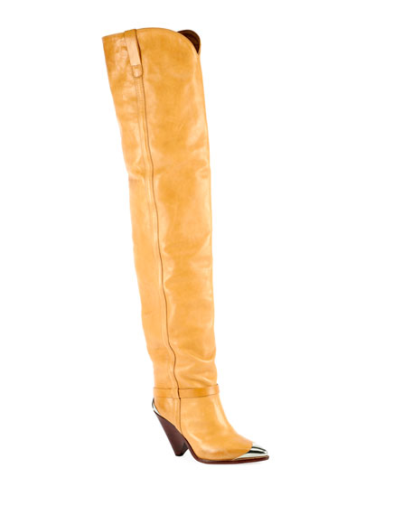 Image 1 of 3: Lafsten Over-The-Knee Western Boot