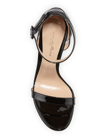 Gianvito Rossi 105mm Patent d'Orsay Sandals